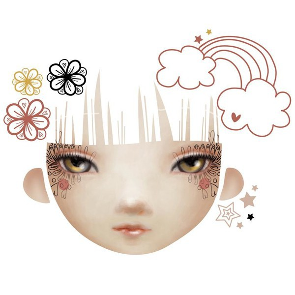 sticker visage repositionnable - Chocovenyl Fairy d'Adolie Day