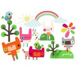 sticker enfant repositionnable coloré - Chocovenyl Rainbow Toys de Jillian Phillips
