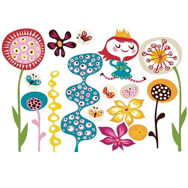 sticker enfant repositionnable - Chocovenyl In my garden d'Helen Dardik